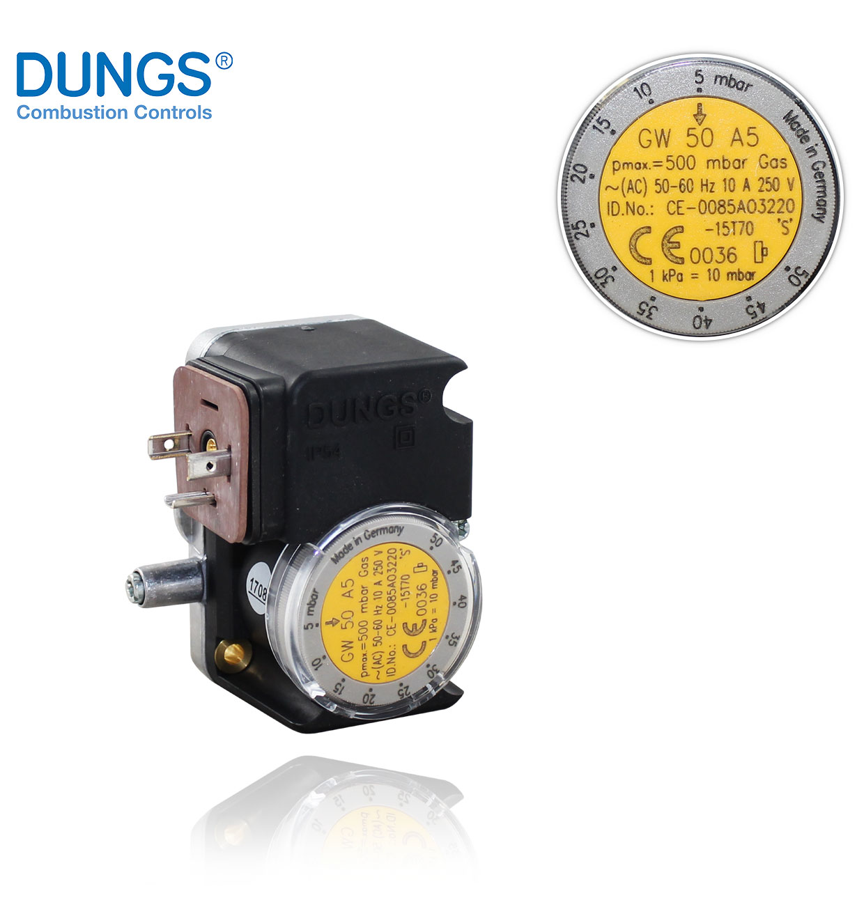 GW 50 A5 (A2) DUNGS PRESSURE SWITCH
