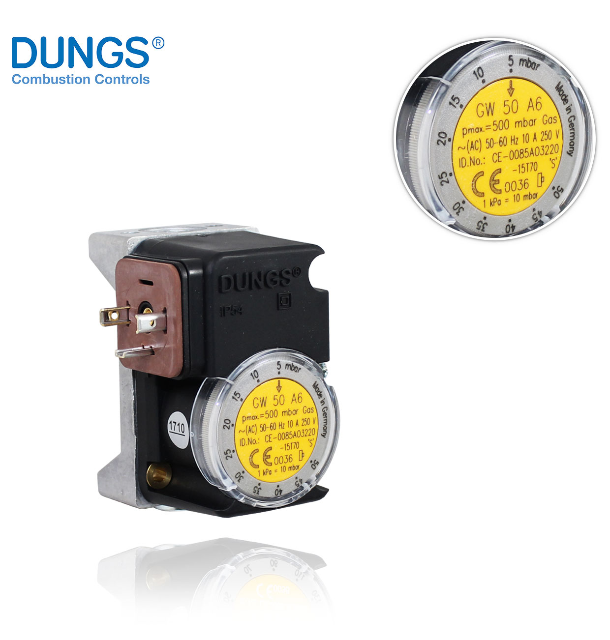 GW 50 A6 (A4) DUNGS PRESSURE SWITCH