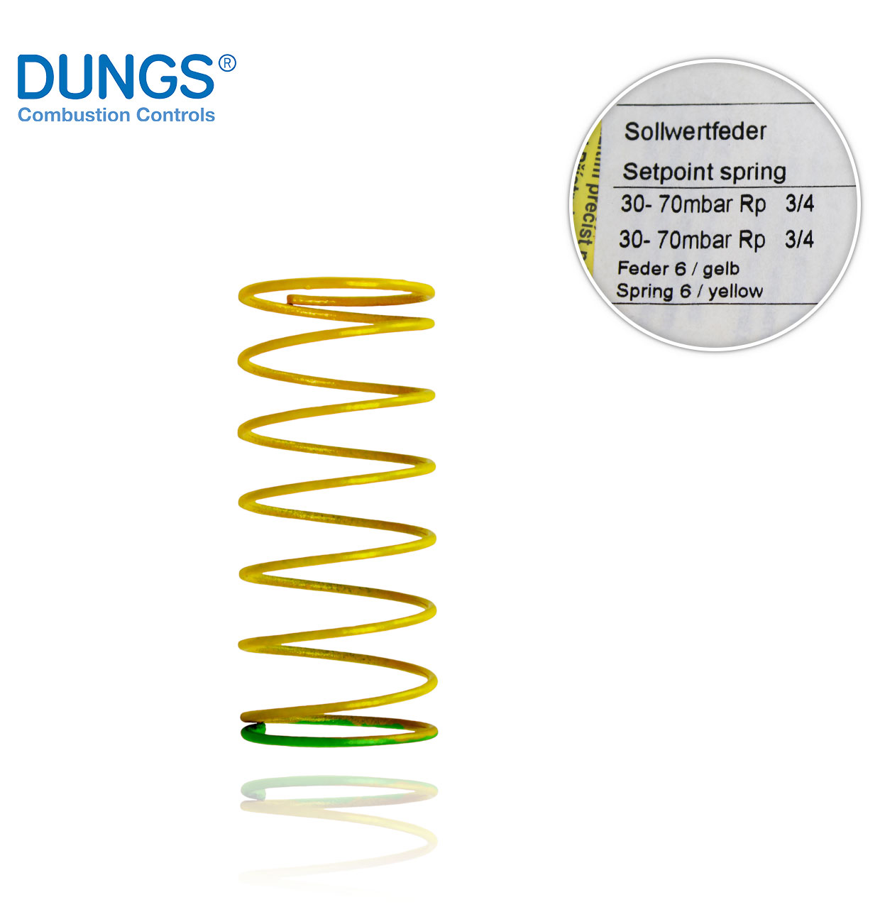 MUELLE AMARILLO 30-70mbar. FRS-FRNG 507 DUNGS 229838
