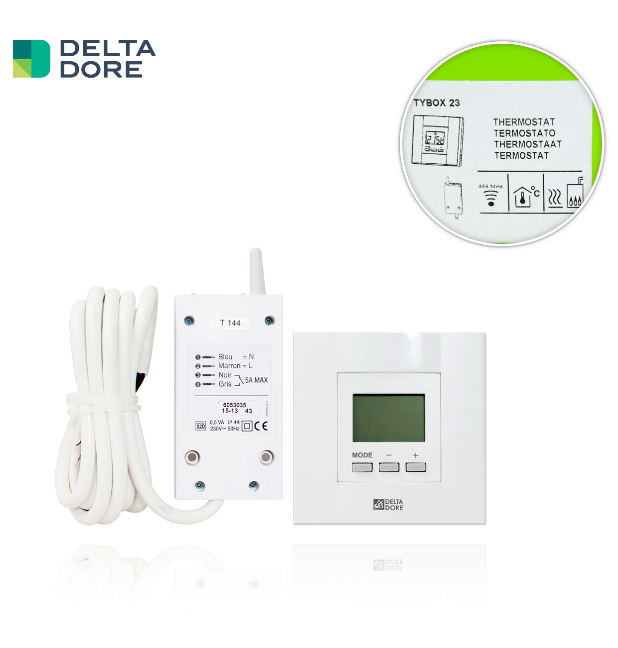 TYBOX 23 / DIANA D10 RADIO TERMOSTATO DIGITAL DELTA DORE