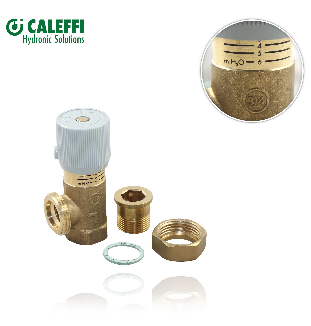 "VALVULA ""BY-PASS"" DIFERENCIAL R3/4"" 1/6M.H2 CALEFFI"