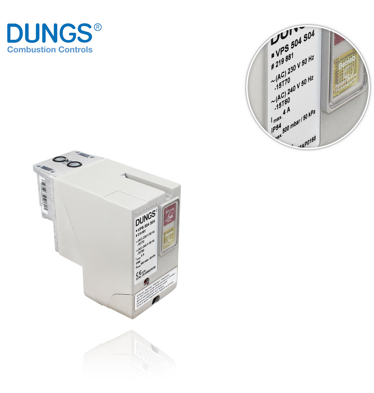 VPS 504 S04 IP54 230V 50Hz DUNGS LEAK CONTROL